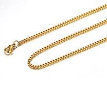 Ожерелье цепочка из нержавеющей стали золотистого цвета