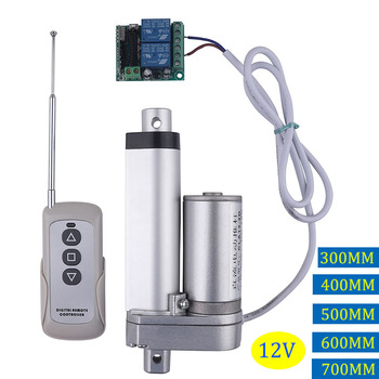 RF remote control Electric Linear actuator 12V metal gear can stop any time linear motor stroke 300mm 400mm 500mm 600mm 700mm