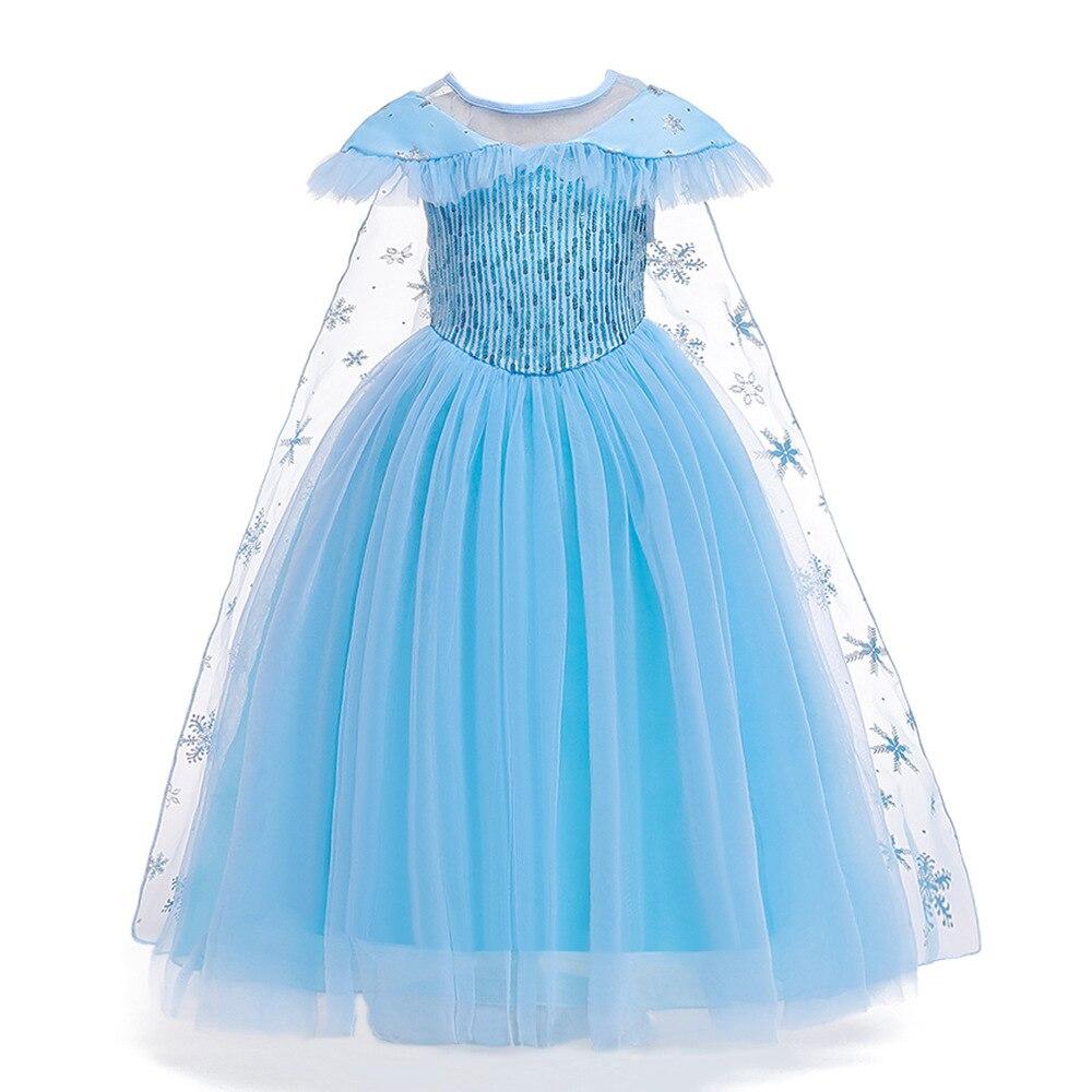 Frozen Aisha Princess Dress 2019 Cross Border INS New Style Sequin Mantle Gauze Tailing Puffy Flower CHILDREN'S Dress