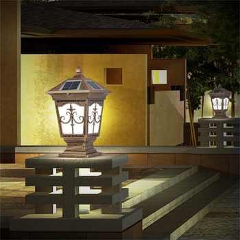 OUFULA Outdoor Solar Post Light Modern Patio Pillar LED Waterproof Lighting For Lawn Garden Fence Gate Porch Courtyard