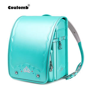 Coulomb School-Bag Orthopedic Backpack Pu-Randoseru Japanese Bookbag Baby Bag Girls Students