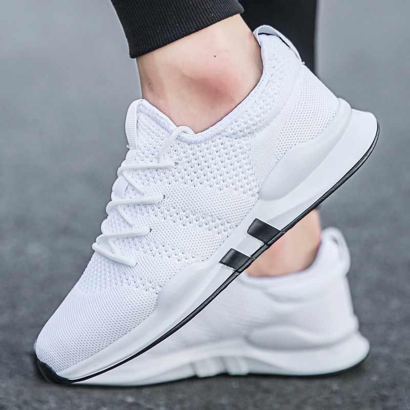 Новинка 2019 года; повседневная мужская обувь; Летние сетчатые дышащие мужские кроссовки; прогулочный светильник; удобная обувь; мужские кроссовки; большие размеры 13-47