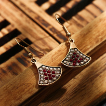 Ethnic Vintage Small Sector Boho Earrings For Women Beaded Bohemia Gold Color Earrings Jewelry Brincos