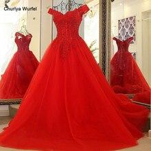 korse omuz elbisesi kırmızı