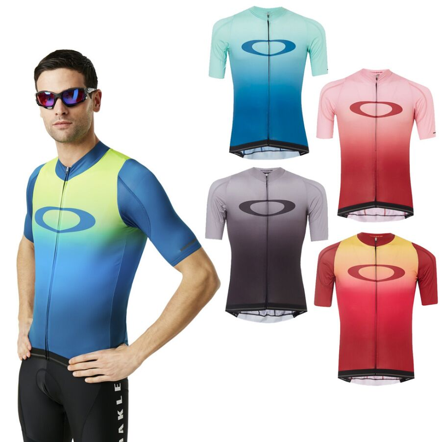 Jersey Short-Sleeve Cycling-Shirt Mtb Oakley Mountain-Road Summer Uci Men's title=