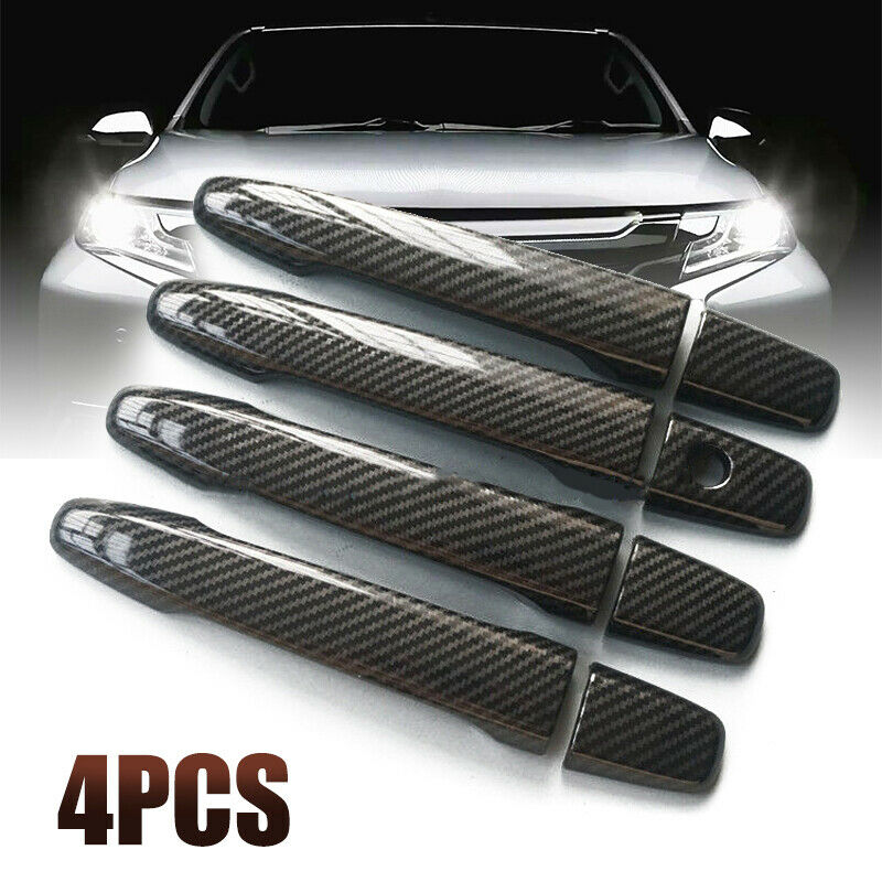 Trim Carbon Fiber Style ABS <font><b>Door</b></font> <font><b>Handle</b></font> cover Decoration For <font><b>Mitsubishi</b></font> Lancer EX Evolution X EVO Sale image