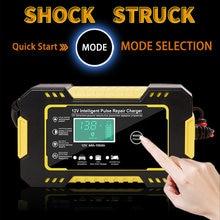 Chargeur de batterie de voiture au plomb 12V 6a, réparation d'impulsions, intelligent, rapide, AGM GEL, plomb-acide, chargeur LiFePO4 LiPo