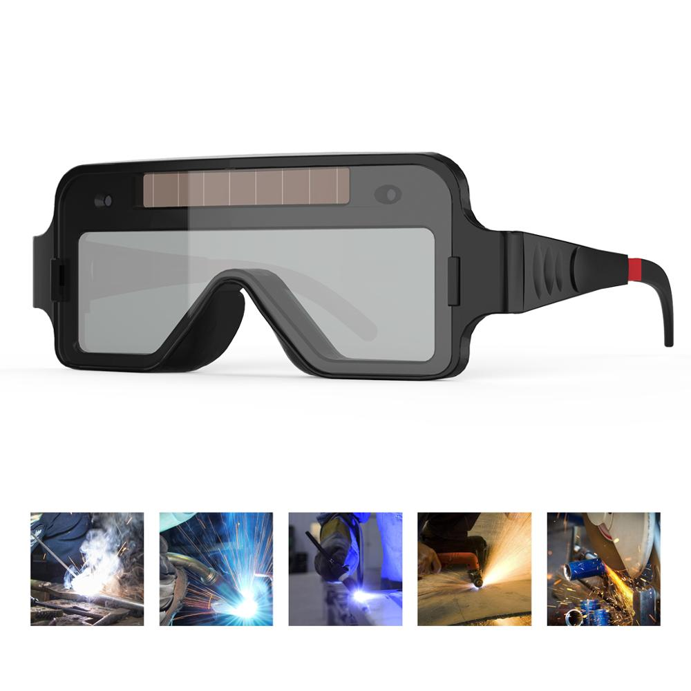 YESWELDER True Color Welding Glasses Solar Powered Auto Darkening Welding Goggles 2 Sensors Welding Mask For TIG MIG MMA Plasma