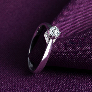 1 Carat 18k Gold And White Gold Diamond Ring Authentic Platinum Rose Gold Gold Wedding Marriage Couple 3