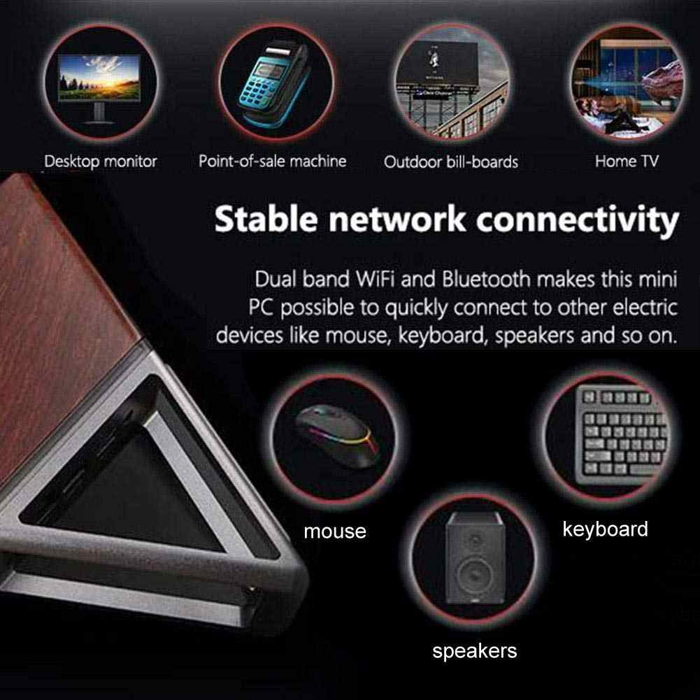 Mini PC 8G + 64G 128G SSD Host Windows 10 Menang Komputer Intel Apoollo N3450 Desktop Akut sudut Segitiga untuk Kantor Rumah Hotel