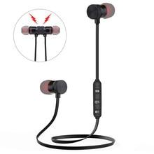 Preto/vermelho esporte magnético estéreo bluetooth fone de ouvido sem fio à prova suor fone de ouvido bluetooth redução ruído 1pcs