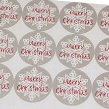 60 unidades unids/lote 3,5 CM Feliz Navidad pegatinas redondo embalaje de regalo Etiqueta de Papel Kraft para hornear caja/bolsas/ taza sello etiqueta