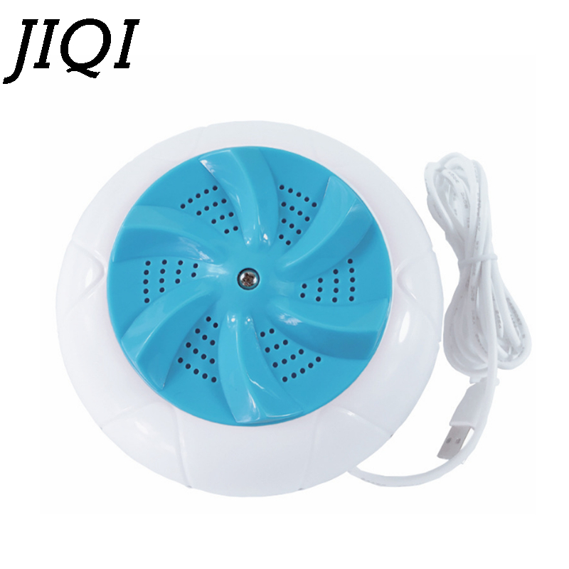 JIQI Mini Ultrasonic Washing Machine Automatic Washer Prevent Winding Wave Wheel Laundry Machine Portable Household Dormitory