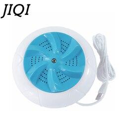 Jiqi mini máquina de lavar roupa ultrassônica automática máquina de lavar evitar onda enrolamento roda portátil dormitório doméstico