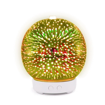 3D Firework Glass Ultrasonic Air Humidifier with 7 Color Led Night Light Aroma Essential Oil Diffuser Mist Maker decleor aroma night