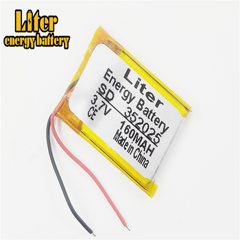 3.7V 352025 160MAH lithium polymer battery MP3 MP4 MP5 small toys Bluetooth stereo e-books GPS PDA Car recorder image