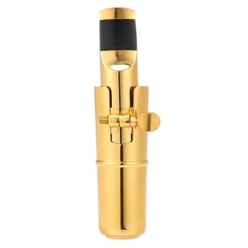 Hot YN-Sax Mouthpiece 7 Tone Gold Plated Alto Saxophone Metal Mouthpiece + Cap + Ligature