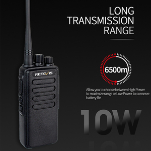 Image 2 - 10W Powerful Walkie Talkie Retevis RT1 VHF (or UHF) VOX 3000mAh Long Range Two way Radio For Factory Warehouse Farm Security