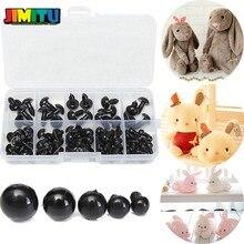 100 шт 6-12 мм черные безопасные пластиковые глаза для плюшевого мишки куклы Животные ремесла коробка Кукла мультфильм Животные Куклы Ремесла куклы аксессуары