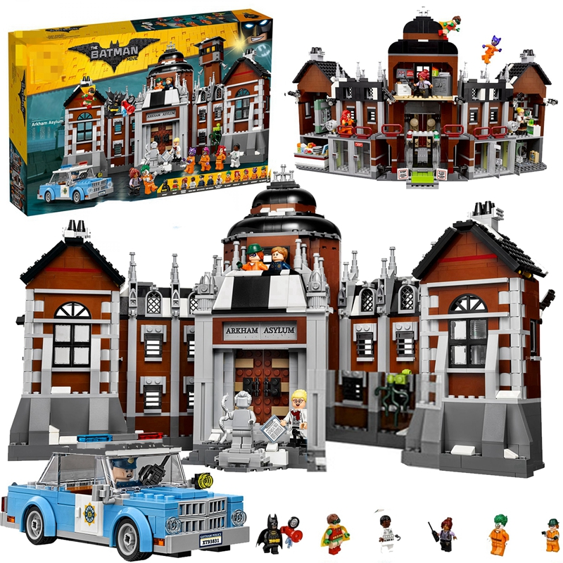 Super Heroes Batman Movie Arkham Asylum Robin Joker Notorious Car Model Compatible Lepins Building Blocks Toys For Children