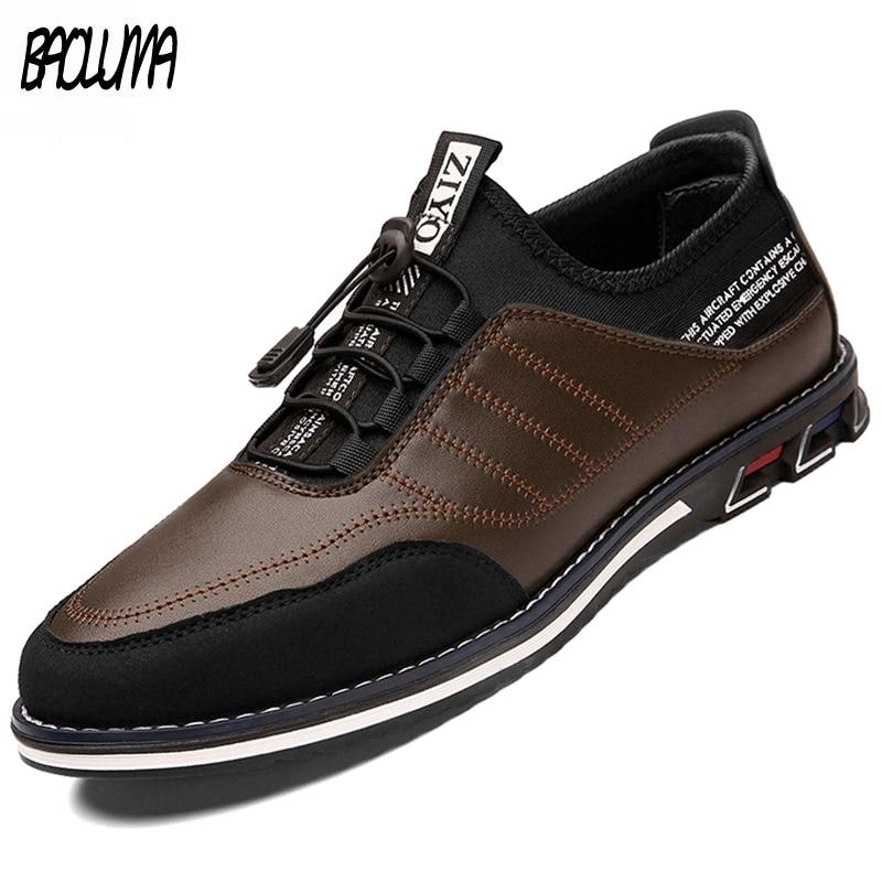 Men's Shoes Brand Men Casual Shoes High Quality Leather Shoes Men Comfortable Breathable Men Business Shoes Zapatillas Hombre