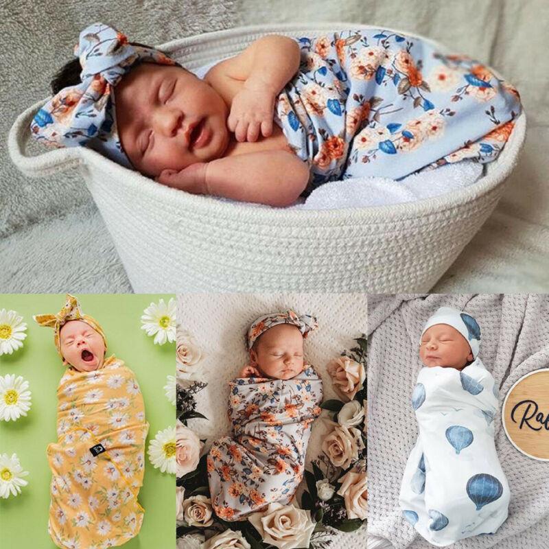 Newborn Baby Infant Swaddle Wrap Swaddling Blanket Sleeping Bag