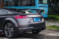 15 19 TT RS MK3 coupe Style Carbon Fiber rear lip For AUDI TT rear splitter rear diffuser striking rear wing