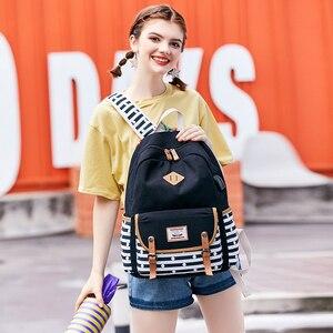 Image 2 - Yeni kadın sırt çantası USB sırt çantaları okul gençler için çanta kızlar Laptop sırt çantası mochila feminina öğrenciler çantası