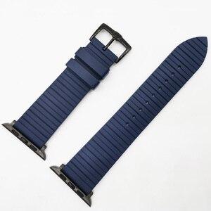 Image 5 - Correa de silicona para Apple Watch, pulsera de silicona para Apple Watch 6 5 4 42mm 44mm 38mm 40mm serie iWatch 6 5 4 3 2 1