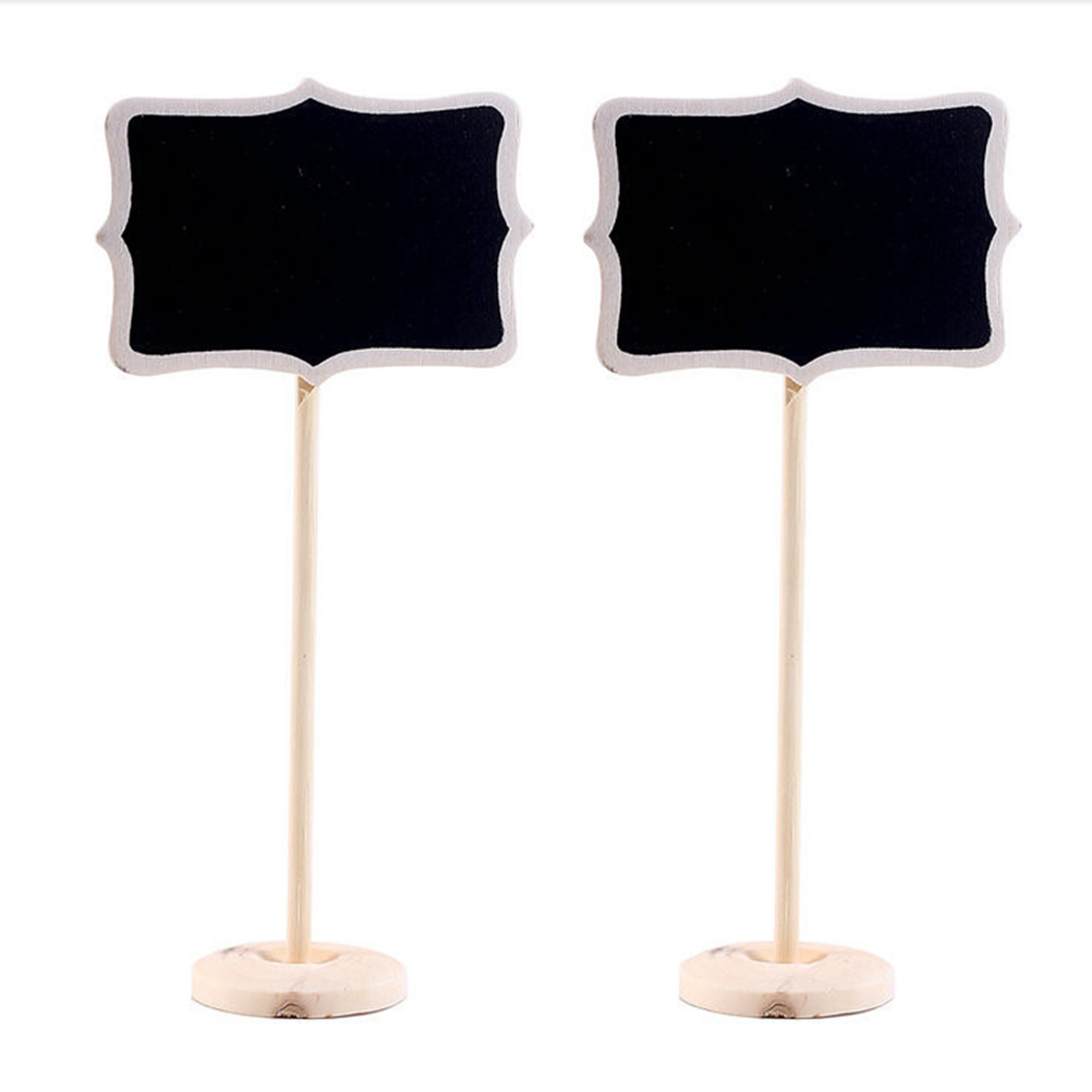 3 Pcs Classic Mini Blackboard Clip On Message Wooden Small Chalkboard For Wedding Party Buffets Table School Supplies