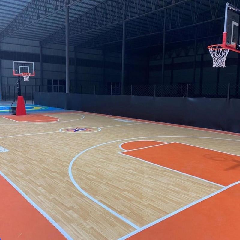 Beable Pvc Floor In Roll For Basketball Court Mat Indoor Vinyl Flooring