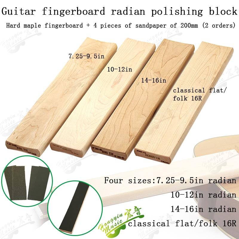 Radius Sanding Block for Fret Leveling Fingerboard Luthier ...