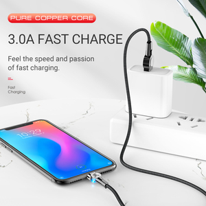 Image 4 - hoco magnetic usb cable for Type C rotatable magnet charger fast charging right angled for Samsung Xiaomi Huawei nylon usb c