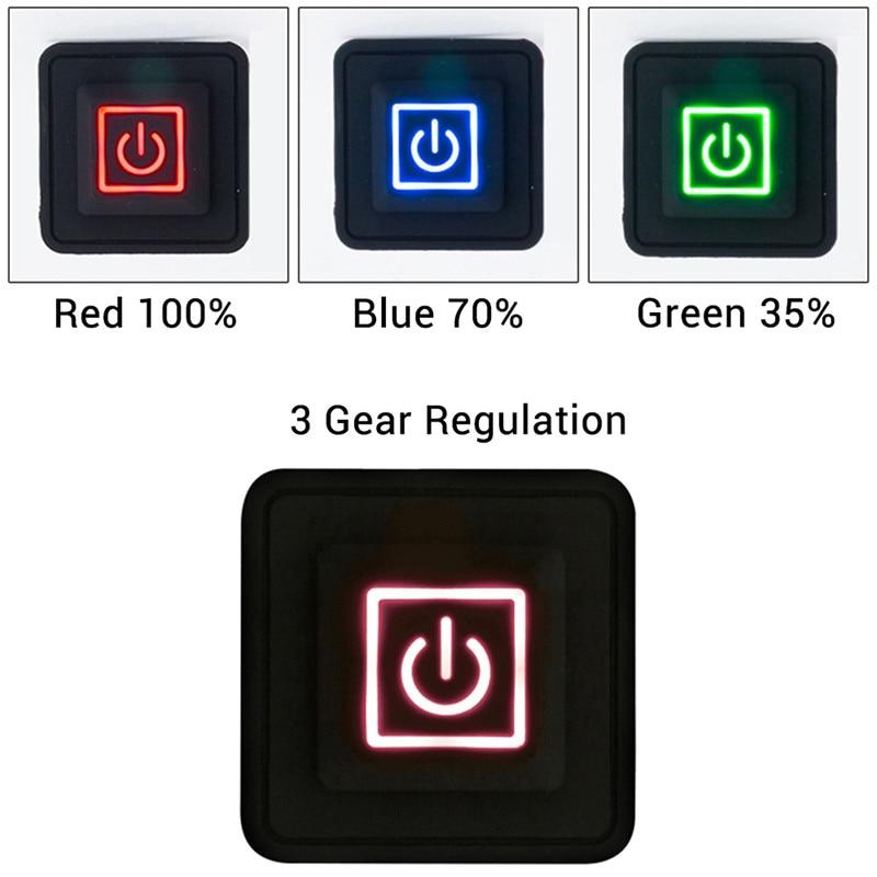 3.7 ~ 12V ısıtmalı yelek pantolon eldiven elektrikli ısıtma kemer DIY sıcaklık kontrol cihazı Rheostat anahtari silikon düğme anahtarı