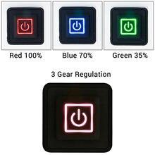 3.7 12 12v aquecida colete calças luvas electirc aquecimento cós diy controlador de temperatura interruptor botão silicone rheostat
