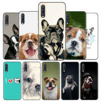 Silicone Case Cover For Samsung Galaxy A50 A80 A70 A60 A40 A30 A20 A20e A10 A8 A7 A6 Note 8 9 10 Plus 2018 5G French Bulldog Dog