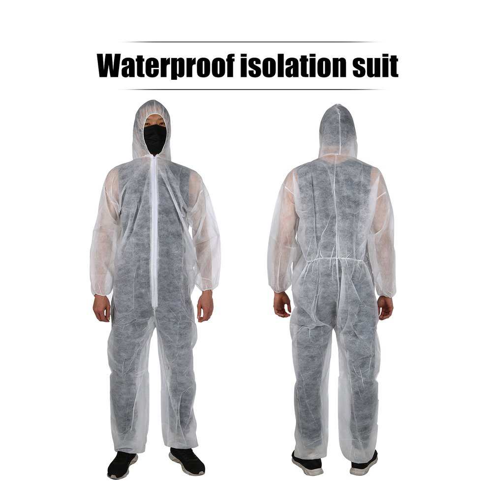 1PC XXL Disposable Coverall Security Clothing Dust-proof Clothing Isolation Clothes Painting Suit One-pieces Nonwovens Anti Flu