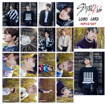 16pcs set Kpop STRAY KIDS Photocard New Album LEVANTER Lomo Card Bang Chan Felix Hyunjin