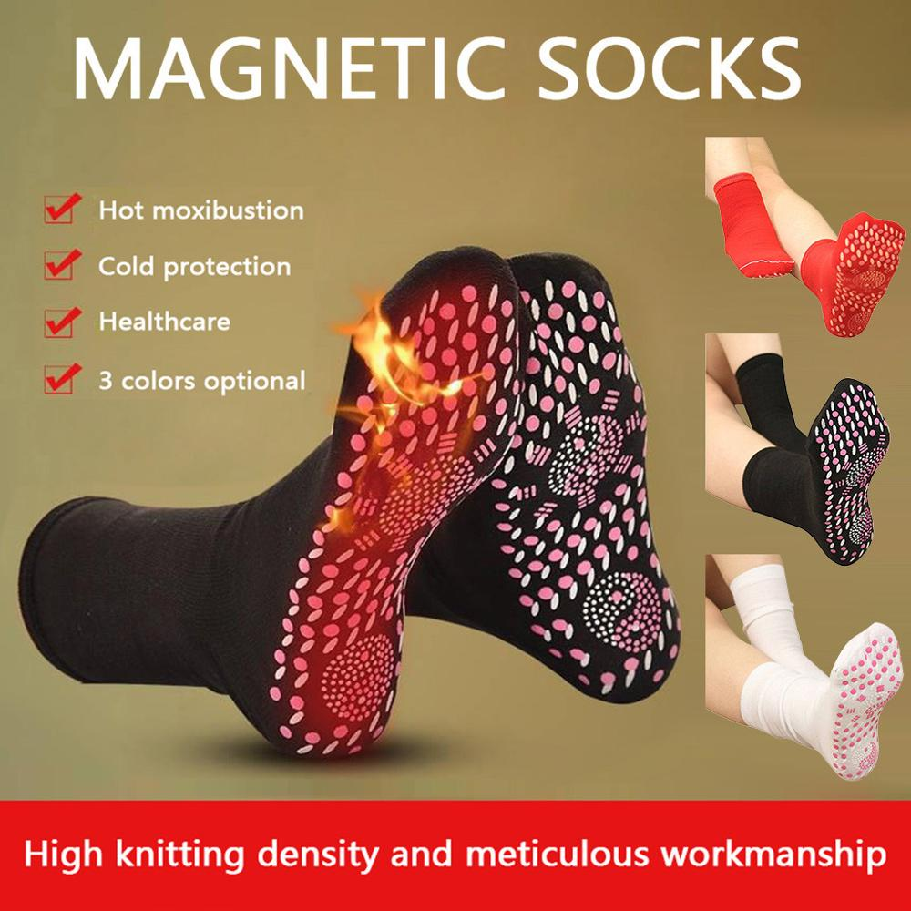 Tourmaline Magnetic Socks - Self Heating Therapy Magnetic Socks Unisex Winter Warm Skiing Snowboarding Hiking Sock
