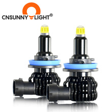 CNSUNNYLIGHT H1 H7 H11 Car Fog light 8 sides 360 LED H8 H9 Bulb 24 chips 9005 9006 HB3 HB4 Bulb Projector Lens 6000K Lamp auto