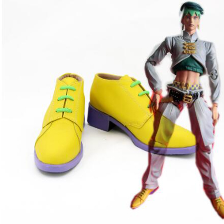 JoJo's Bizarre Adventure Rohan Kishibe Cosplay Boots Shoes Yellow Men Shoes Costume Customized Accessories Halloween Party Shoes