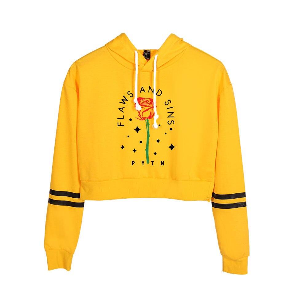 Payton Moormeier Hoodie Letter Rose Print Hoodies Trending Products 2020 Crop Tops Pullover Sweatshirts Pateon Merch Streetwear