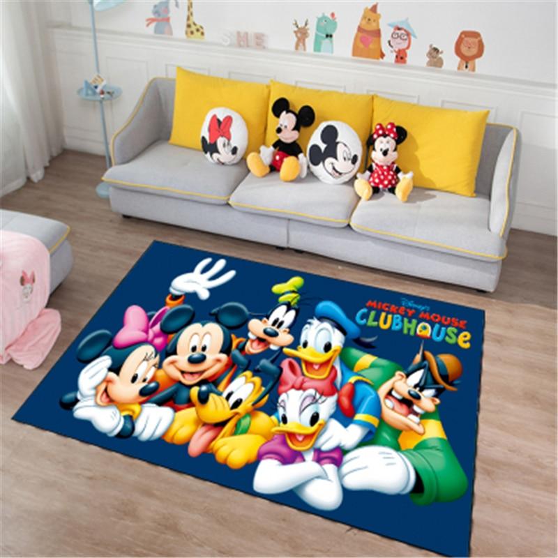 Disney Cartoon Mickey And Minnie Mouse Door Mat Kids Boys Girls Game Mat Bedroom Kitchen Carpet Indoor Bathroom Mat