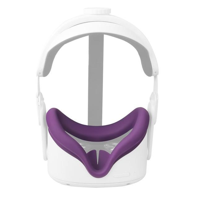 ซิลิโคนEye Maskหน้าปกAnti เหงื่อป้องกันการรั่วซึมUnisex LightฝาครอบPadสำหรับOculus Quest 2แว่นตาVRอุปกรณ์เสริม