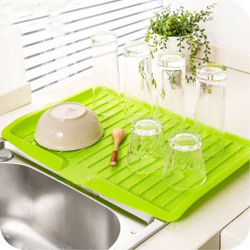 Dish Plate Drainer Drying Tray Board Cutlery Kitchen Sink Storage Rack Holder Worktop Organizer Drying Rack For Dishes