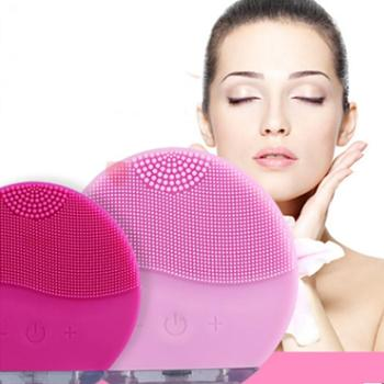 Silicone Face Cleansing Brush Electric Face Cleanser Electric Facial Cleanser Cleansing Skin Deep Washing Massage Brush electric facial cleansing face brush spa massage skin care 5 in 1 multifunction skin scrubber