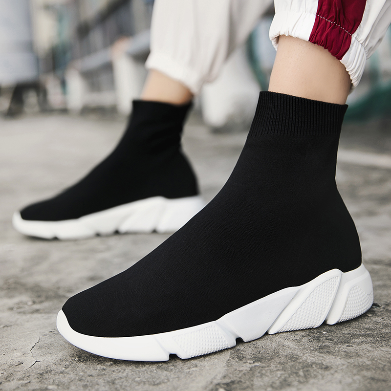 Women's Shoes Spring Summer Socks Shoes Fashion Breathable High-top Lady Sneakers Casual Shoes Big Size Shoes Woman 34-46