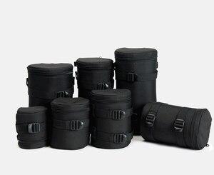 Image 5 - 7.5x9cm Camera Lens Pouch Lens Case Bag for 18 55mm 50mm f/1.8  35mm Canon Nikon