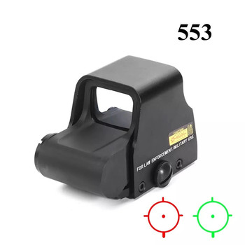 553 Red Dot Sight Holographic Reflex Weapon Rifle Scope Tactical Red Green Dot Riflescope With 20mm Mount For Rifle Airsoft Gun jj airsoft m2 red dot tan