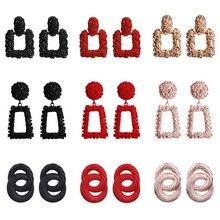 Modyle Fashion Statement Earrings Big Metal Geometric Pendant Earrings For Women Hanging Dangle Earrings Drop Earing Bohemian fashion big flowers drop earrings jewelry earrings for women dangle pendant statement bohemian wedding earrings gift